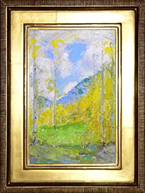 Aspen Forest Scene (oil painting)