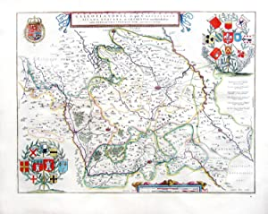 Gallo flandria, in qua Castellaniae Lilana, Duacena, &Orchiesia?[Map of French Flanders / Lille e...