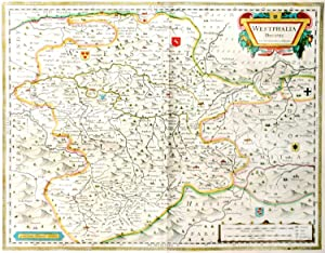 Westphalia Ducatus.[Map of Westphalia, Germany / Westfalen, Deutschland].