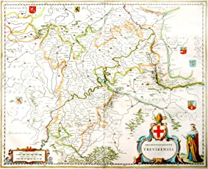 Archiepiscopatus Trevirensis. [Map of the Electorate of Trier / Trier-Coblenz, Germany / Trier-Ko...