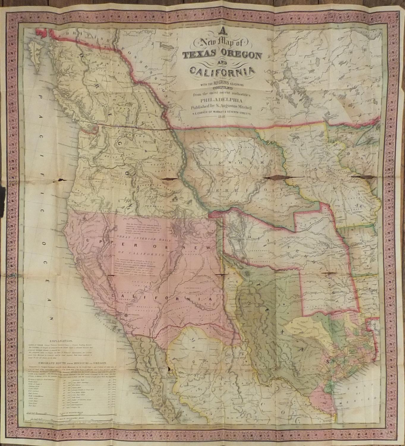 New Map Of Texas.A New Map Of Texas Oregon And California