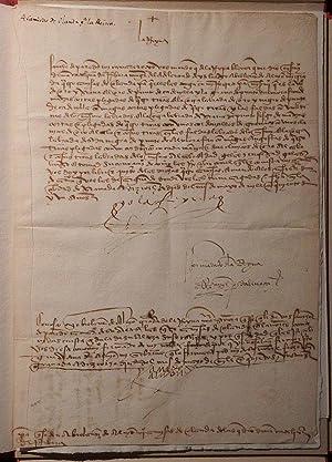 "Document signed ""I the Queen"" (yo la reyna).: ISABELLA I of CASTILE (1451-1504)."
