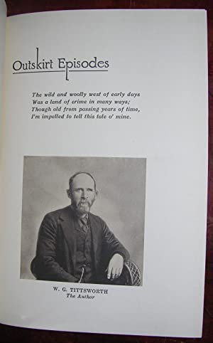 Outskirt Episodes.: TITTSWORTH, William G. (1847-1925).