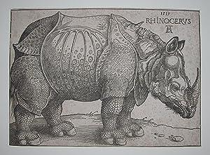 Rhinoceros.: DURER, Albrecht (1471-1528).