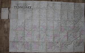Lloyd's official map of the State of Tennessee, 1863.