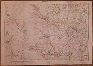 Contoured Road Map of Harrogate.