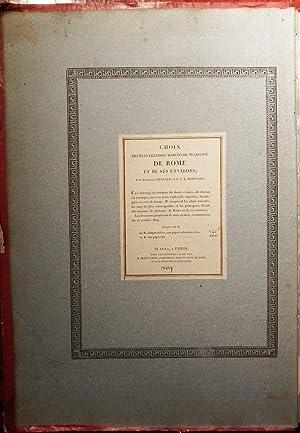 Choix des Plus Celebres Maison de Plaisance: PERCIER, Charles (1764-1838)