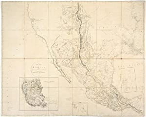 A New Map of Mexico and Adjacent Provinces Compiled from Original Documents by A. Arrowsmith 1810.