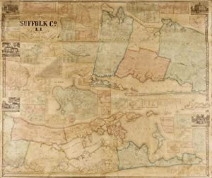 Map of Suffolk Co., L. I., New York. From Actual Surveys by J. Chase Junr.