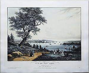 Vue du New York Prise du Weahawk: GARNERAY, Ambroise Louis