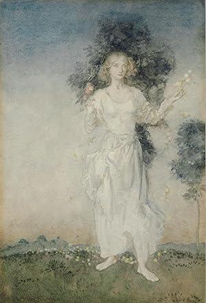 "Spring,"" original watercolor, signed (""Arthur Rackham"") lower: RACKHAM, Arthur (1867-1939)"