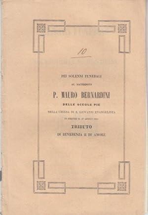 PEI SOLENNI FUNERALI AL SACERDOTE P. MAURO