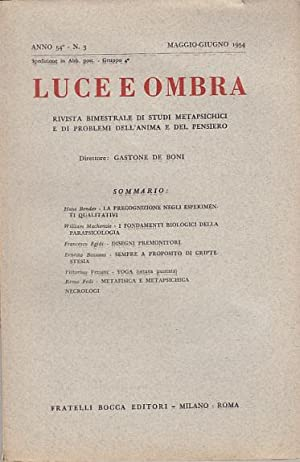 LUCE E OMBRA RIVISTA BIMESTRALE DI STUDI
