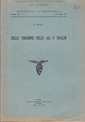 SULLA TORSIONE DELLE ALI A SBALZO. ESTRATTO: CICALA P.