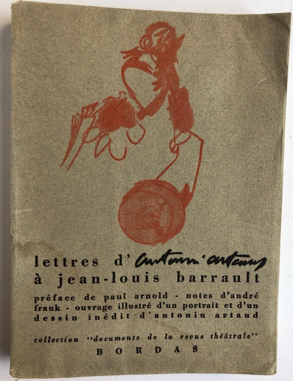 Lettres_dAntonin_Artaud_à_JeanLouis_Barrault_ARTAUD_Antonin_Très_bon_Couverture_souple