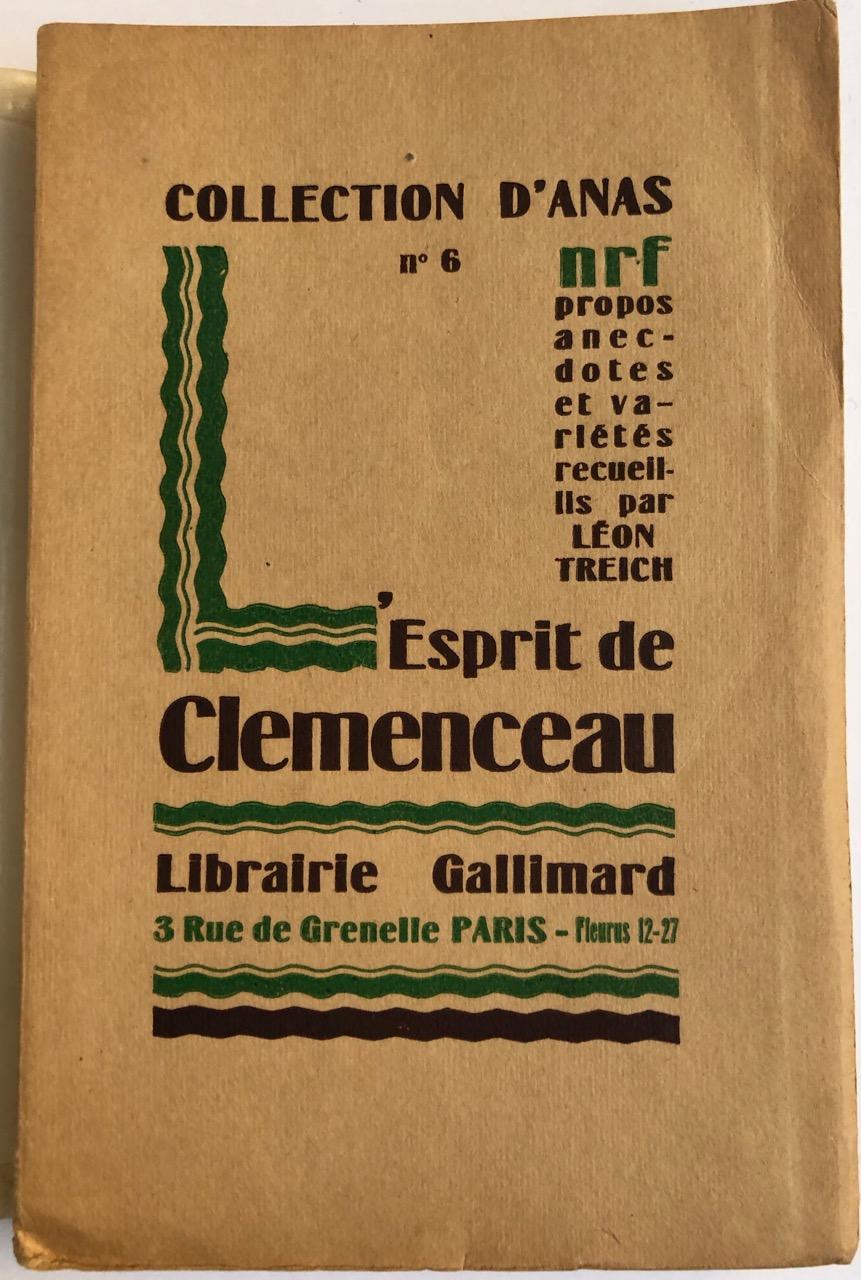 LEsprit_de_Clémenceau__Propos_anecdotes_et_variétés_recueillis_par_Léon_Treich_CLEMENCEAU__TREICH_LÉON_Bon_Couverture_souple