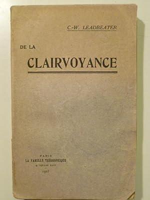 De la Clairvoyance.: LEADBEATER Charles-Webster (Evêque