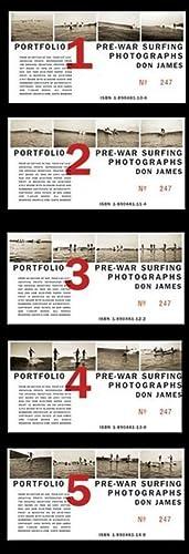 PREWAR SURFING PHOTOGRAPHS: DON JAMES - PORTFOLIOS 1,2,3,4 & 5: A COMPLETE SET: JAMES, DON). ...