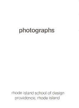 PHOTOGRAPHS: RHODE ISLAND SCHOOL OF DESIGN