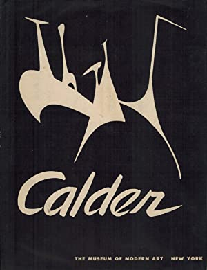 ALEXANDER CALDER - A BOLDLY SIGNED ASSOCIATION COPY