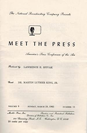 MEET THE PRESS - AMERICA'S PRESS CONFERENCE OF THE AIR: PRODUCED BY LAWRENCE SPIVAK, GUEST: DR. M...