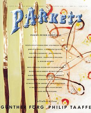 PARKETT NO. 26: GUNTHER FORG, PHILIP TAAFFE: PARKETT). Curiger, Bice,