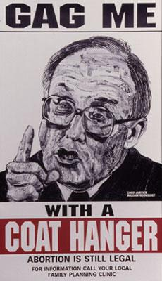 ROBBIE CONAL VINTAGE POSTER - GAG ME WITH A COAT HANGER (WILLIAM REHNQUIST)
