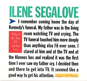 ILENE SEGALOVE: WHY I GOT INTO TV: SEGALOVE, ILENE). Desmarais,