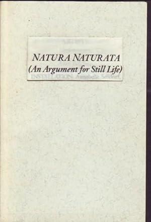 NATURA NATURATA (AN ARGUMENT FOR STILL-LIFE): BENEFIT: KOSUTH, JOSEPH). DaRosa,
