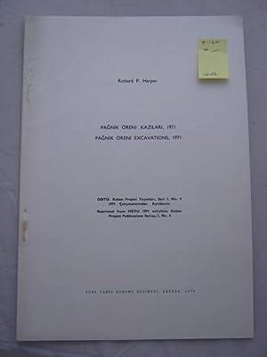 Pagnik Oreni Kazilari, 1971 / Pagnik Oreni: Harper, Richard P.
