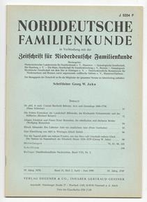 Norddeutsche Familienkunde, Heft 2 (1990).: Diverse