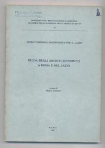 Guida degli archivi economici a roma e: Guerico, Maria :