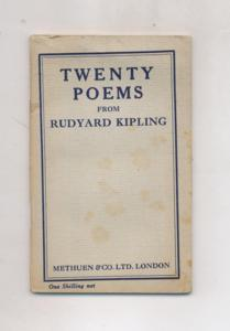 Twenty poems from Rudyard Kipling.
