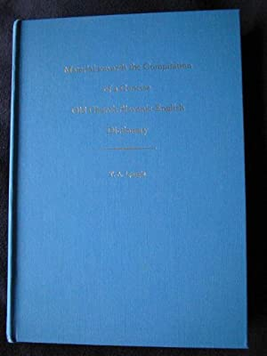 Material Towards the Compilation of a Concise Old Church Slavonic-English Dictionary