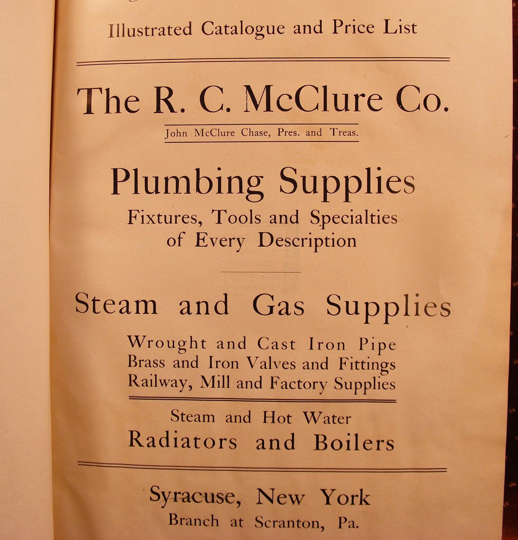 Catalogue C The R C Mcclure Co Plumbing Supplies Fixtures Tools
