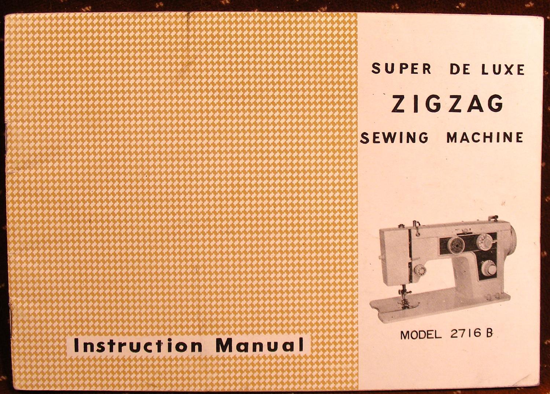 sewing machine instruction manual