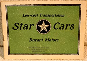 Low-cost Transportation STAR CARS Durant Motors