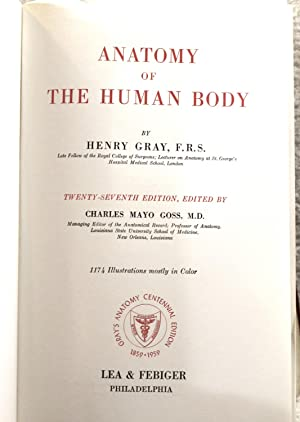 Anatomy Of The Human Body By Gray Henry Abebooks