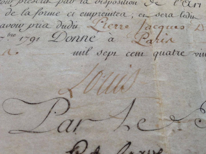 signed document by louis xvi 1754 1793 paris unbound. Black Bedroom Furniture Sets. Home Design Ideas