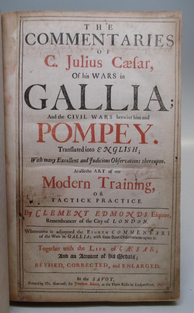 The Commentaries of C  Julius Caesar, of his