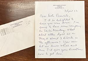 Autographed Letter Signed to Sister Mary Francita: O'CONNOR, Flannery