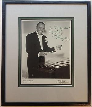 Inscribed Photograph Framed: HAMPTON, Lionel (1908 - 2002)