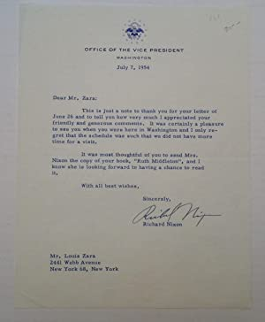 Typed Letter Signed as Vice President