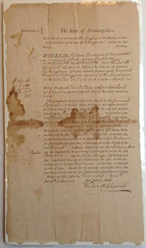 Document Signed as a Judge: CHESWELL, Wentworth (1746 - 1817)