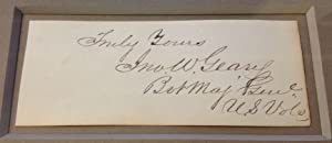 Clipped Signature Framed: GEARY, John W. (1819 - 1873)