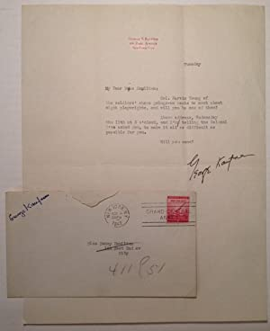 Typed Letter Signed on personal stationery: KAUFMAN, George S. (1889 - 1961)