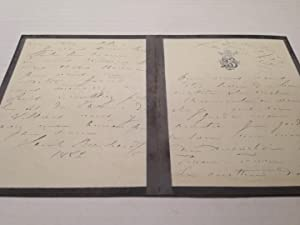 Autographed Letter Signed in French: BERNHARDT, Sarah (1844 - 1923)