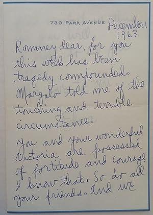 """Autographed Letter Signed """"Edna"""" to actor Romney Brent: FERBER, Edna (1885 - 1968)"""
