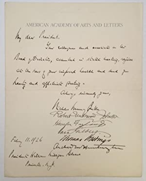 Autographed Letter Signed to Princeton president William Milligan