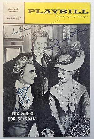 """Signed Playbill -- """"The School for Scandal"""": GIELGUD, John et"""